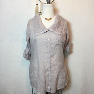 Wide Collar Blouse